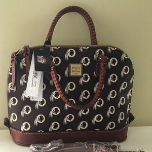 New Dooney & Bourke NFL Redskins Zip Zip Satchel